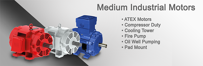 Medium Industrial Motor Product Page