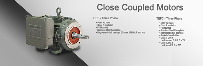 Close Coupled Pump Motors Product Page