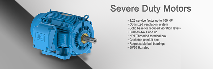 Severe Duty Motor Product Page